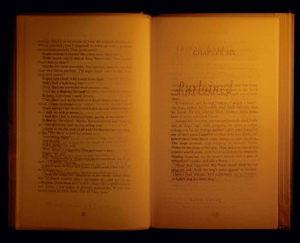 READING THROUGH EVERY PAGE OF JOSEPH KOSUTH'S PURLOINED N°442
